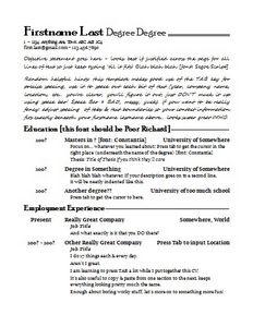 Образец резюме на должность руководителя образовательного учреждения