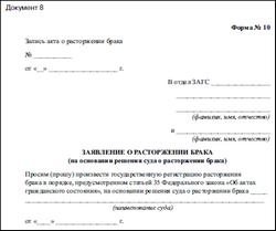 образец заявления о расторжения договора