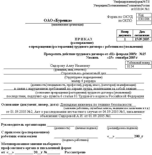 форма н-1 несчастный случай в школе образец - фото 5